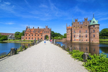 Walkway to Castle Egeskov, Denmark