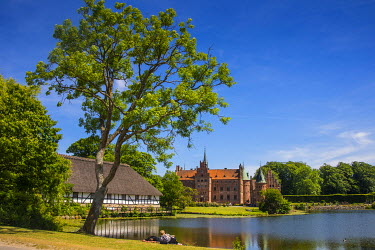 Pond before the Castle Egeskov, Denmark