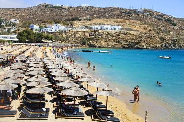 GRE1305 The Jackie O' Beach Club & Restaurant at Super Paradise beach on Mykonos Island