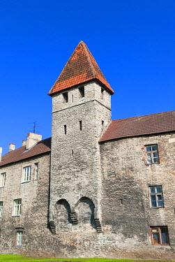 EU35NTO0132 The old city walls of the Old Town of Tallinn, UNESCO World Heritage Site, Estonia, Baltic States