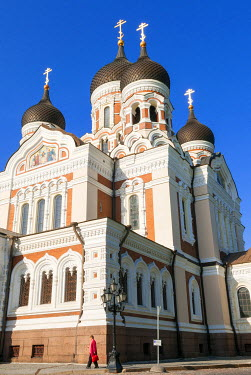 EU35NTO0137 Russian Orthodox Alexander Nevsky cathedral in Toompea, Old Town, UNESCO World Heritage Site, Tallinn, Estonia, Baltic States