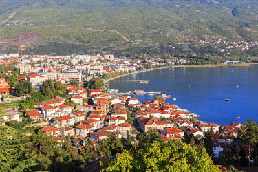 EU49EWI0142 Macedonia, Ohrid and Lake Ohrid, Ohrid has 365 churches, one for each day of the year, and has been referred to as a 'Jerusalem of the Balkans.' Ohrid is both a UNESCO World Heritage Cultural and Natu...