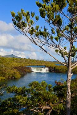 OC19MRU0085 The waterfalls chutes de la Madeleine on the south coast of Grande Terre, New Caledonia, Melanesia, South Pacific