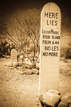 US03RBS0017 Graves at Boothill Graveyard, Tombstone, Arizona, USA