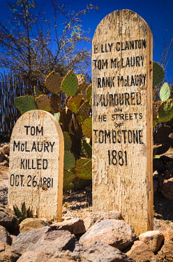 US03RBS0018 Graves at Boothill Graveyard, Tombstone, Arizona, USA