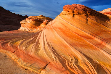US03RBS0059 The Wave, Coyote Buttes, Paria-Vermilion Cliffs Wilderness, Arizona, Usa