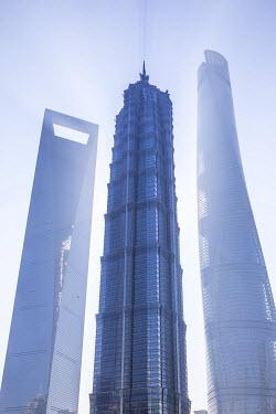 CN186RF Jinmao Tower, Shanghai World Financial Center & Shanghai Tower, Pudong, Shanghai, China