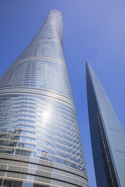 CN189RF Shanghai World Financial Center & Shanghai Tower, Lujiazui financial district, Pudong, Shanghai, China