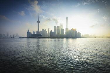 CN198RF Skyline of Pudong, Shanghai, China