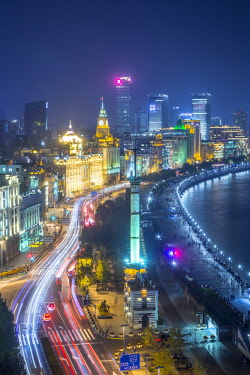 CN03630 The Gutzlaff signal tower & The Bund, Shanghai, China