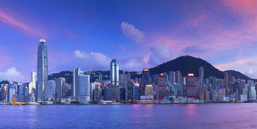 CH10651AW Skyline of Hong Kong Island, Hong Kong, China
