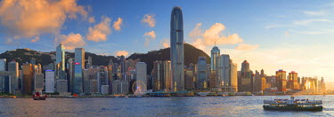 CH10657AW View of Hong Kong Island skyline, Hong Kong, China