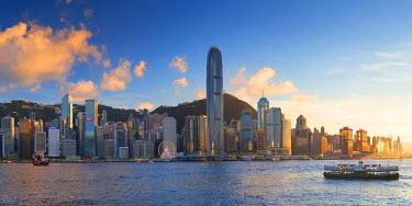 CH10658AW View of Hong Kong Island skyline, Hong Kong, China