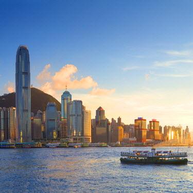 CH10659AW View of Hong Kong Island skyline, Hong Kong, China