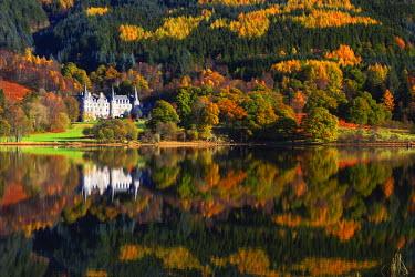 SCO34382AW Loch Achray in Autumn, The Trossachs National Park, Central Region, Scotland