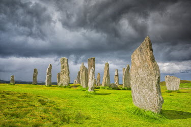 SCO34480AW Cloudscape Over Callanish Standing Stones, Isle of Lewis, Outer Hebrides, Scotland
