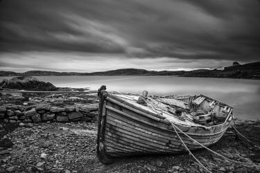 SCO34494AW Old Boat, Isle of Lewis, Outer Hebrides, Scotland