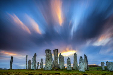 SCO34524AW Callanish Standing Stones, Isle of Lewis, Outer Hebrides, Scotland