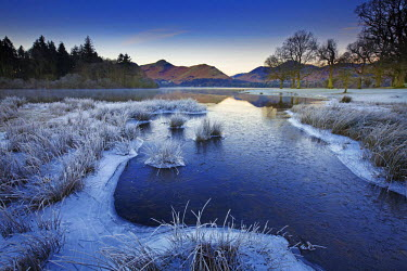 ENG13817AW Frost Along Derwent Water, Lake District National Park, Cumbria, England