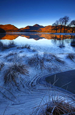 ENG13819AW Frost Along Derwent Water, Lake District National Park, Cumbria, England