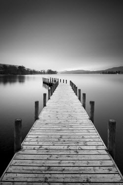 ENG13849AW Jetty on Coniston Water, Lake District National Park, Cumbria, England