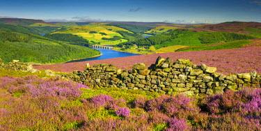 ENG14001AW View Over Ladybower Reservoir, Peak District National Park, Derbyshire, England
