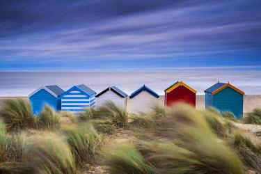 ENG14009AW Beach Huts, Southwold, Suffolk, England