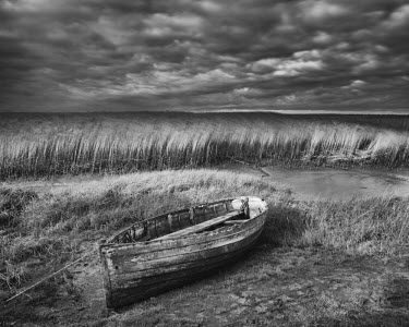 ENG14013AW Waiting for High Tide, Brancaster Staithe, Norfolk, England