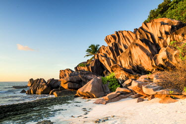 SEY1047AW Grand Anse Beach, La Digue, Seychelles