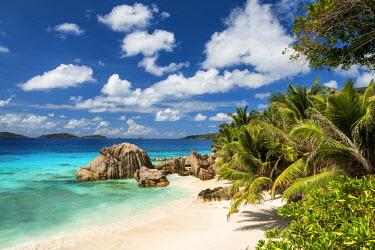 SEY1055AW Anse Patate Beach, La Digue, Seychelles