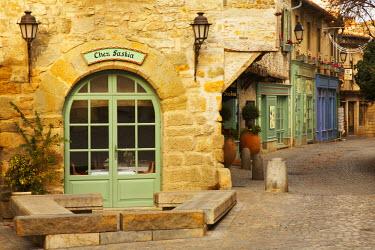 FRA9364AW Medieval Cobblestone Street, Carcassonne, France
