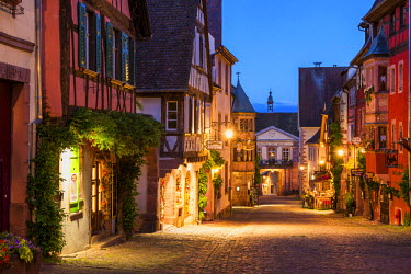 FRA9454AW Riquewihr at Night, Alsace, France
