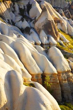 TUR0989AW Eroded Tufa Formations in Love Valley, near Goreme, Cappadocia, Turkey