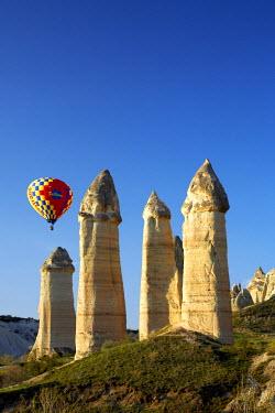 TUR0992AW Hot Air Balloons & Fairy Chimneys in Honey Valley, near Goreme, Cappadocia, Turkey