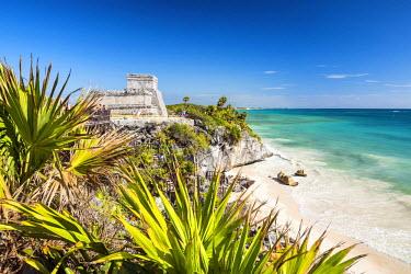 MEX1752AW Mayan Temple Ruins & Beach, Tulum, Yucatan, Mexico