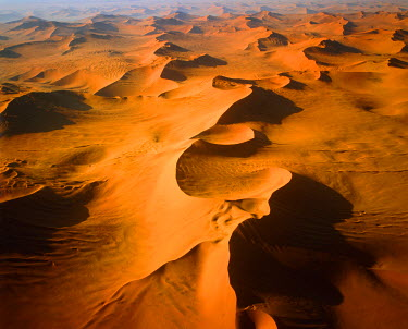 NAM6262AW Aerial View of Sand Dunes, Sossusvlei, Namibia, Africa