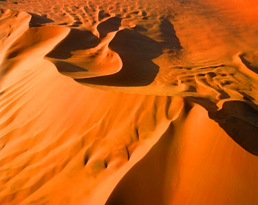 NAM6263AW Aerial View of Sand Dunes, Sossusvlei, Namibia, Africa