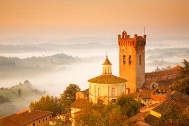 ITA9659AW Mist below San Miniato, Tuscany, Italy