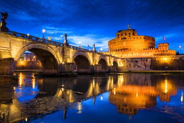 ITA9849AW Castel Sant'Angelo at Night, Rome, Italy