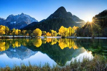 SLO1183AW Jasna Lake in Autumn,  near Kranjska Gora, Slovenia, Europe