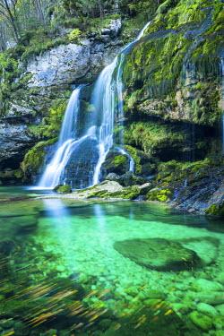 SLO1191AW Virje Waterfall, near Bovec, Slovenia, Europe