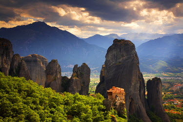 GRE1325AW The Holy Monastery of Rousanou, Meteora, Kalambaka, Greece