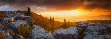 USA11914AW Bear Rocks at Sunrise, Dolly Sods Wilderness, West Virginia, USA