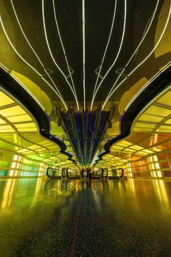 USA11987AW Chicago O'Hare Airport Architecture, Illinois, USA