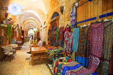 ISR0107 Israel, Akko. Outlets inside the Turkish Bazaar. Unesco.