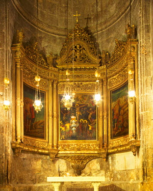 ISR0163 Israel, Jerusalem. Chapel at the church of the Holy Sepulchre. Unesco.