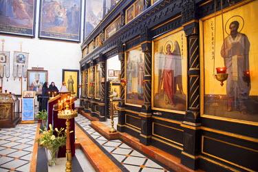 ISR0167 Israel, Jerusalem. Eastern Orthodox Nuns at the Alexander Nevsky Church. Unesco.