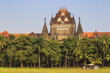 IN07080 India, Maharashtra, Mumbai, Fort area, Oval Maiden and Bombay High Court