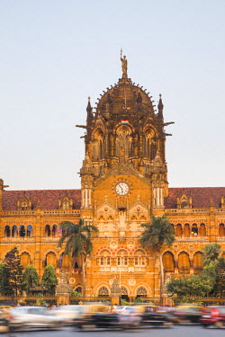 IN07110 India, Maharashtra, Mumbai, Chhatrapati Shivaji Terminus a historic railway station and a UNESCO World Heritage Sit