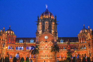 IN07115 India, Maharashtra, Mumbai, Chhatrapati Shivaji Terminus a historic railway station and a UNESCO World Heritage Sit